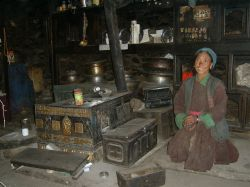 Inside a traditional Ladakhi house