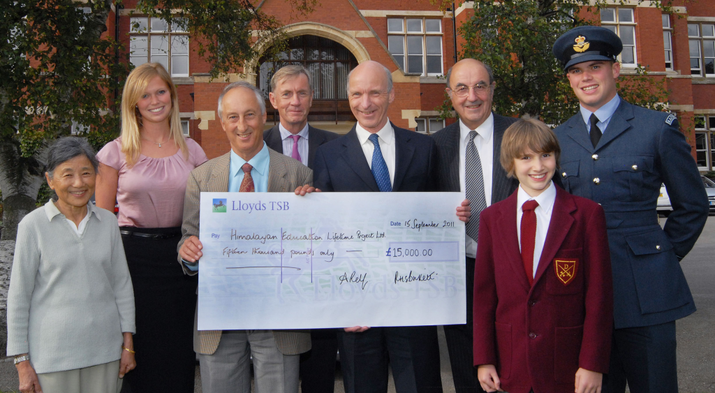 CfBT cheque for GBP15,000
