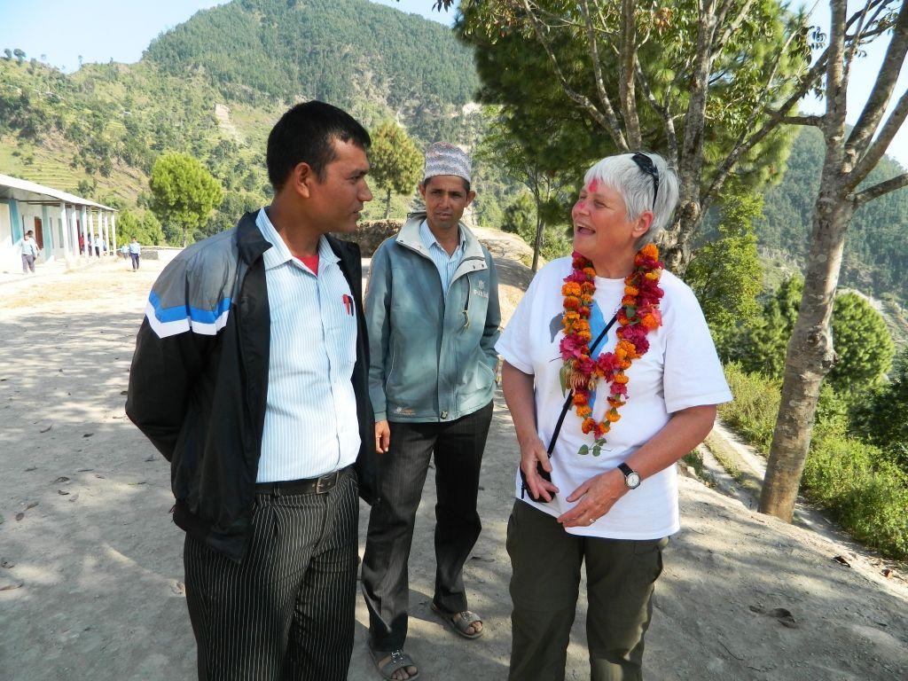Barbara Porter on a field visit