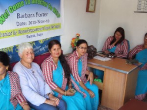Barbara Porter at the Women's Empowerment Centre