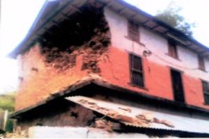 Earthquake damage at Sangya Chinnebas