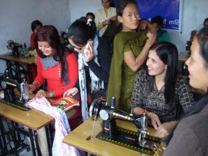 The sewing workshop at the Women's Empowerment Centre