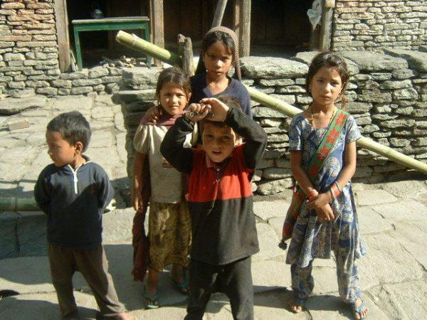 Kids in Annapurna